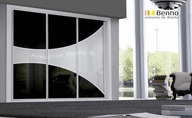 Serie Elite 126 – Perfil Blanco Panel Combinado cristal galaxia H curvo
