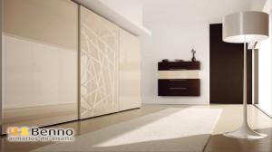 Serie Milenium 130 - Perfil Plata Dos Paneles lacados blancos alto brillo