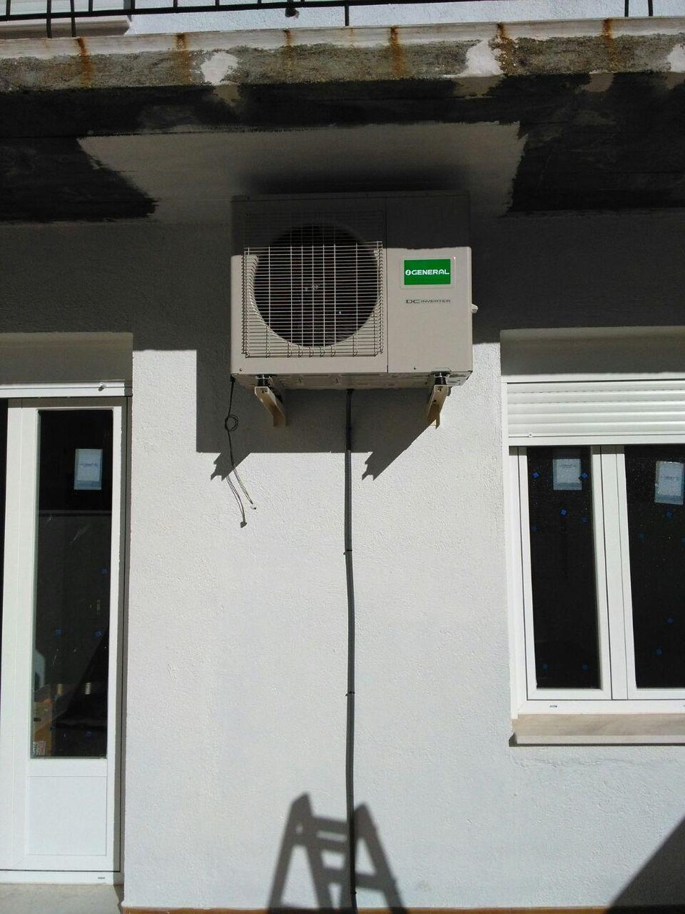 Instalaci n de m quinas de aire acondicionado en bloque de for Maquinas de aire acondicionado baratas